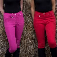 New Denim Breeches In Hot Pink Or Red